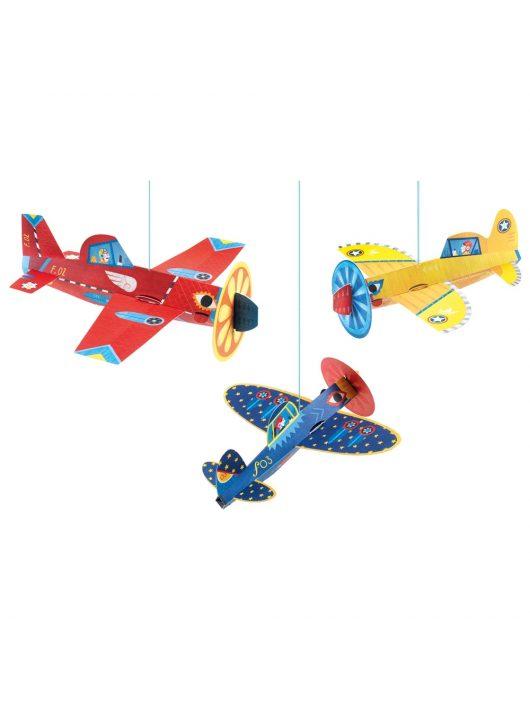 DJECO - LITTLE BIG ROOM 3D-s függődísz - Repülők - Planes