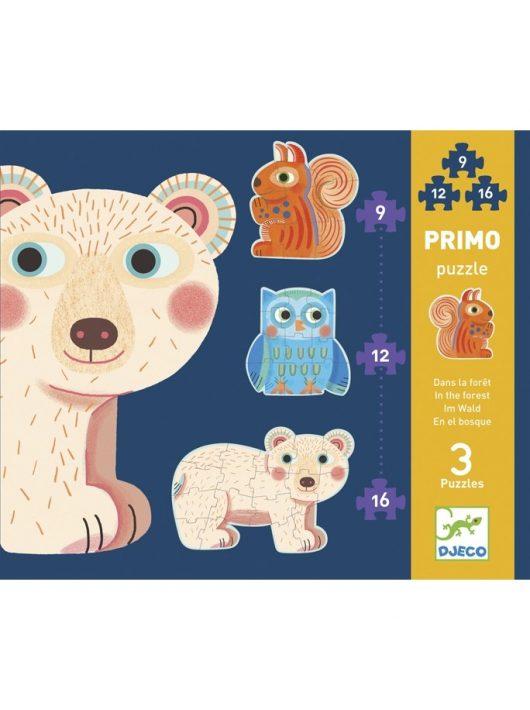 Primo puzzle - Az erdőben - In the forest Djeco