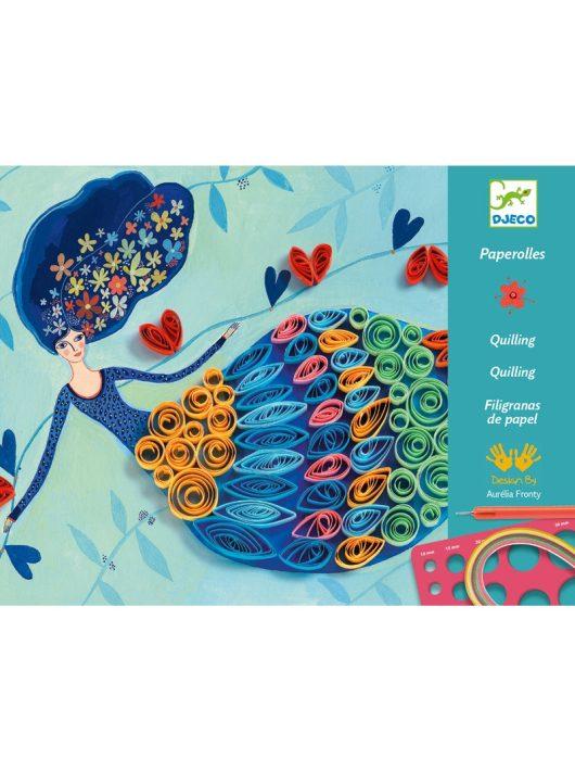 Művészeti műhely - Tavasztündér - Petticoat scrolls Djeco