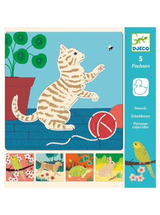 Rajzsablonok - Aranyos állatok - Cute companions Djeco