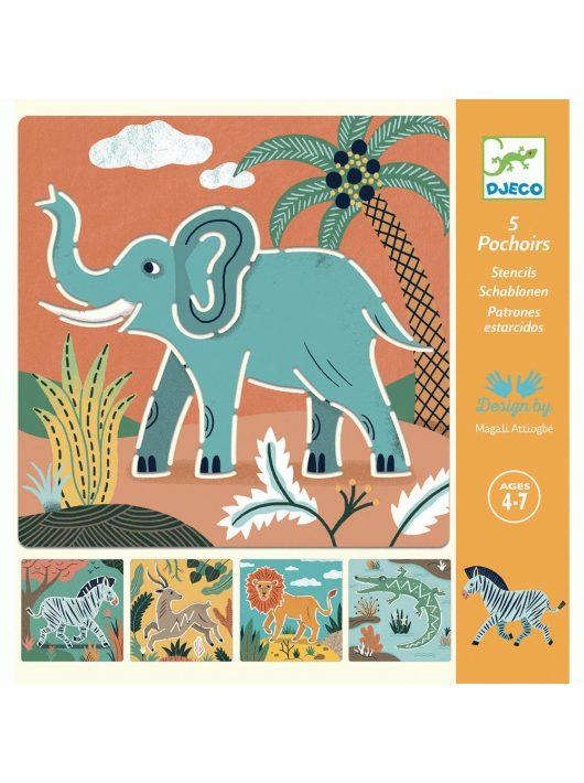 Rajzsablonok - Vadállatok - Wild animals Djeco